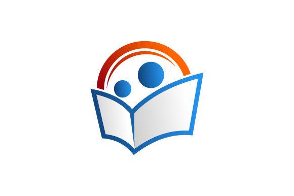 Reading book logo.