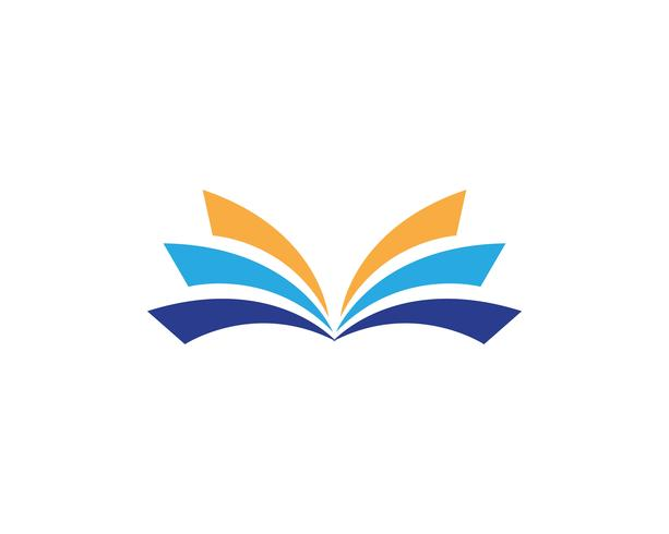 Book reading logo and symbols template icons.