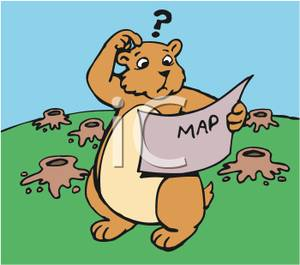 Clipart Reading A Map.