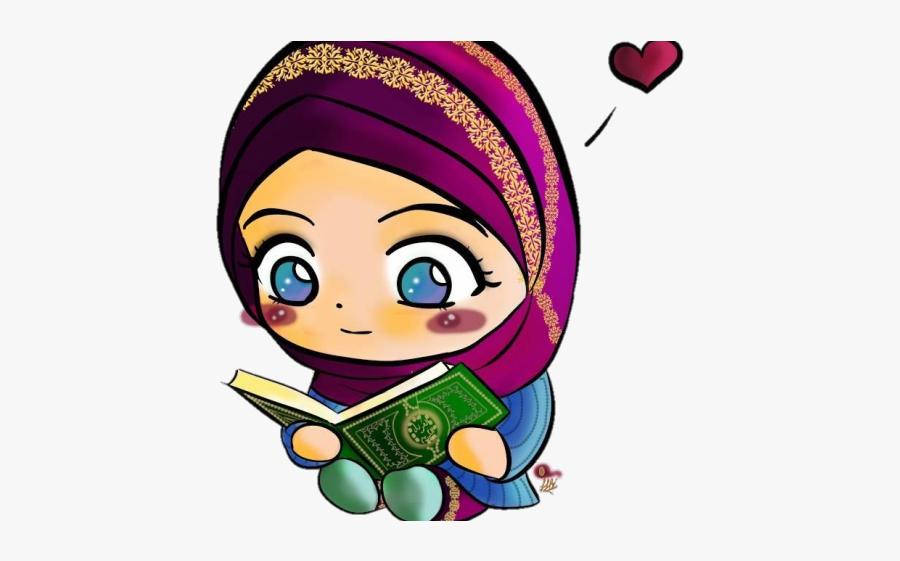 Girl Reading Al Quran Clipart , Free Transparent Clipart.