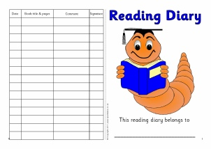 Printable Class Reading Records for Primary School.