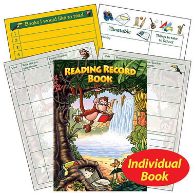 Jungle Themed 40 Page Reading Record Book.