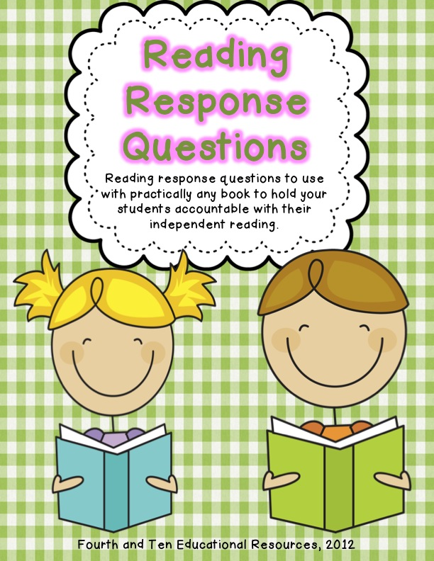 Fourth and Ten: Reading Response Home Reading Log {Freebie}.
