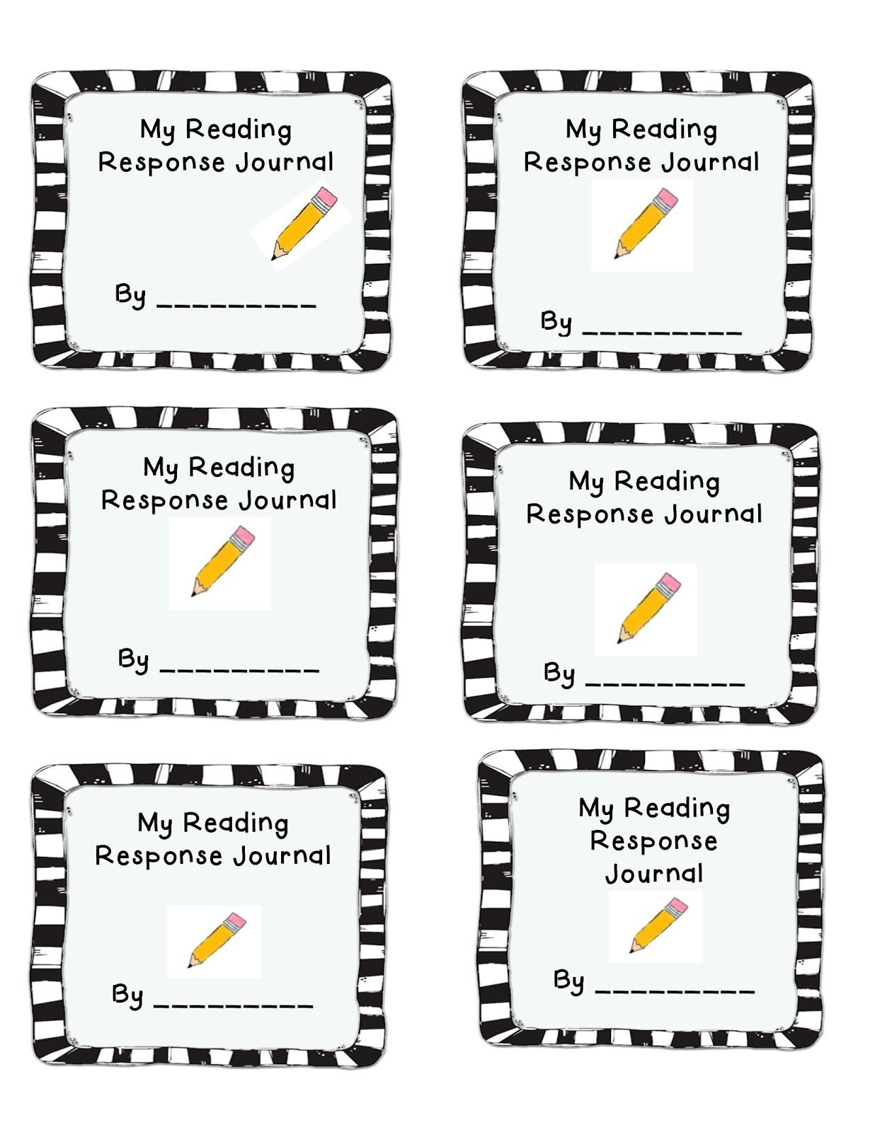 Reader response journal cover.