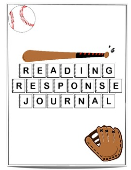 Reading Response Journal with Sports Cover.