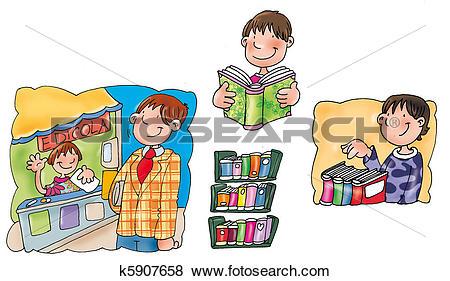 Stock Illustration of Reading Room k5907658.