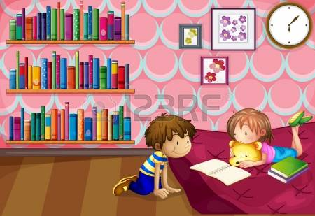 Reading room clipart #14