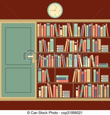 Reading room clipart #17