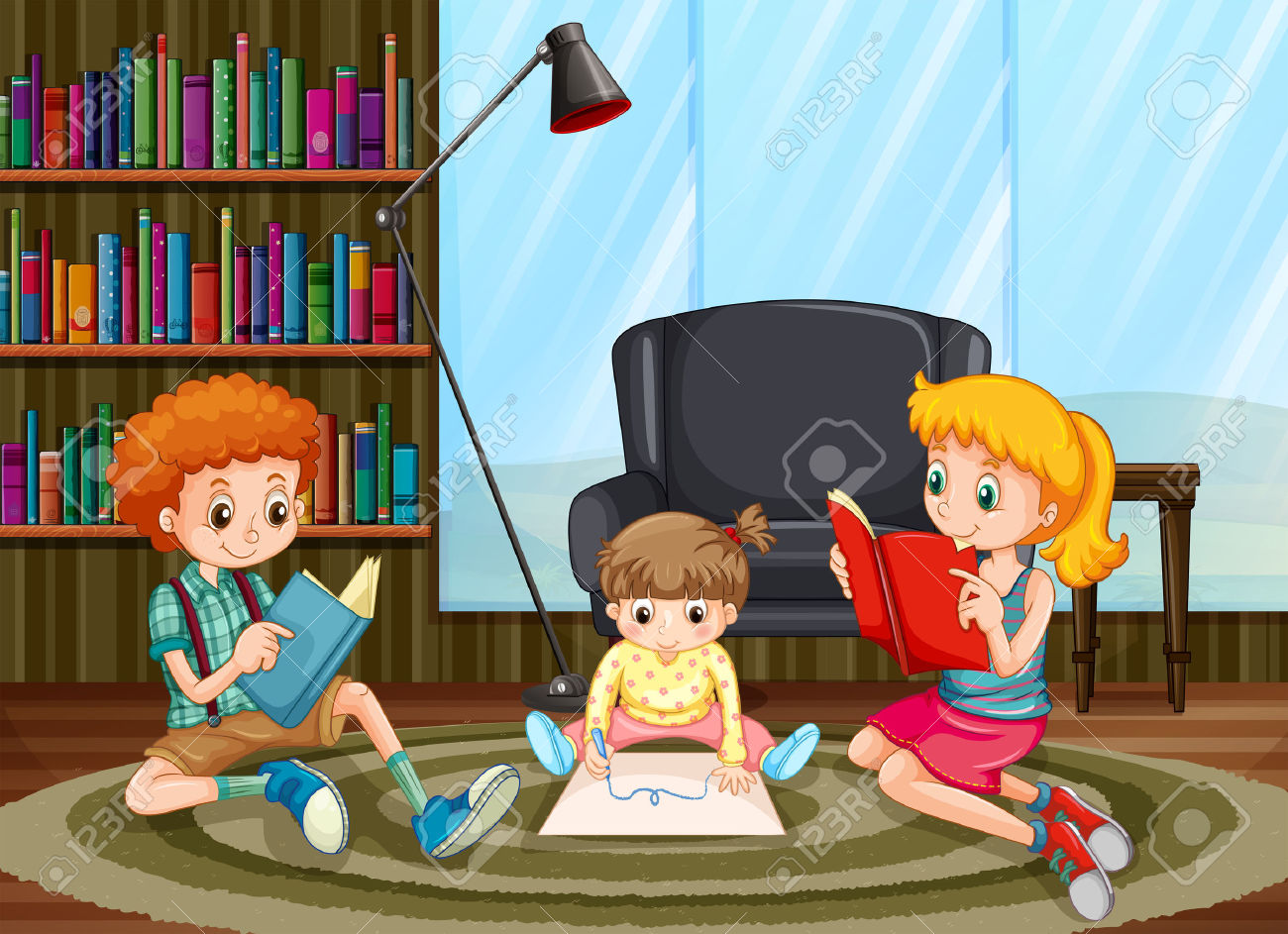 Reading room clipart #12