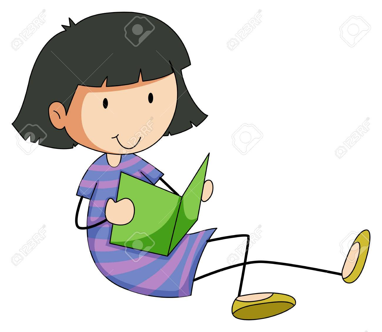Reading Story Books Clipart.