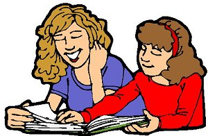 Teacher Reading With Student Clipart.