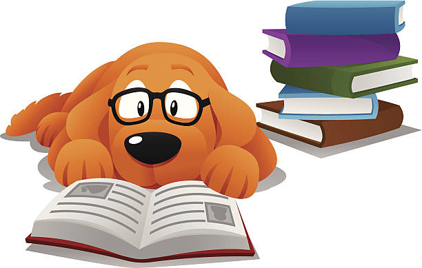 Studying Dog Clip Art, Vector Images & Illustrations.