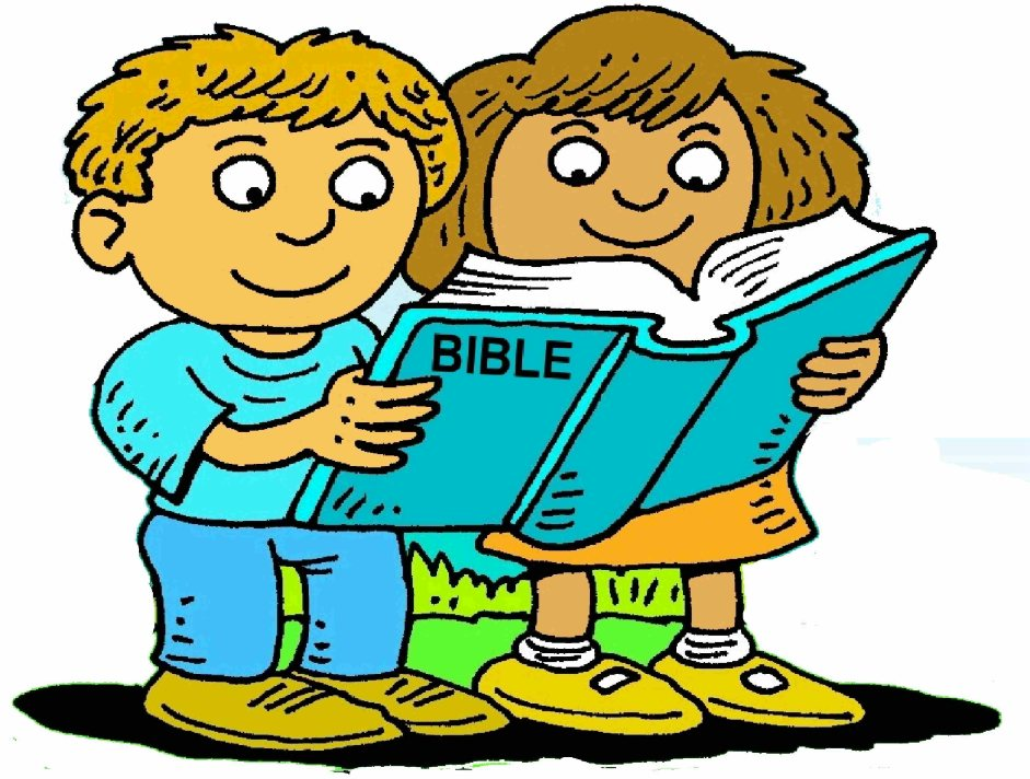 Reading the bible clipart.