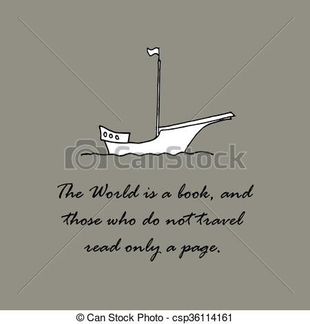 Clip Art Vector of The World is a book, and those who do not.