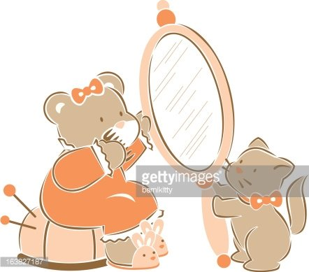 getting ready for bed Clipart Image.
