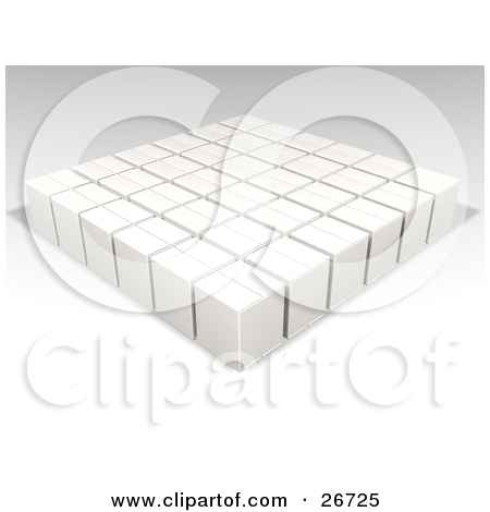 Clipart of a Background of 3d Colorful Cubes Resembling a Crowded.