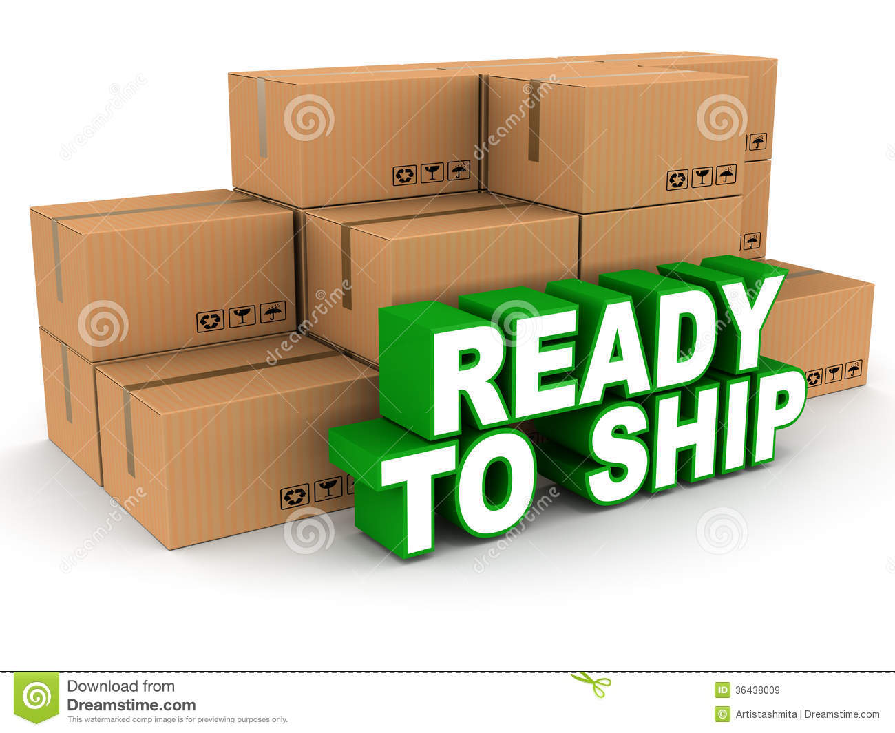 Ready To Ship Royalty Free Stock Images.