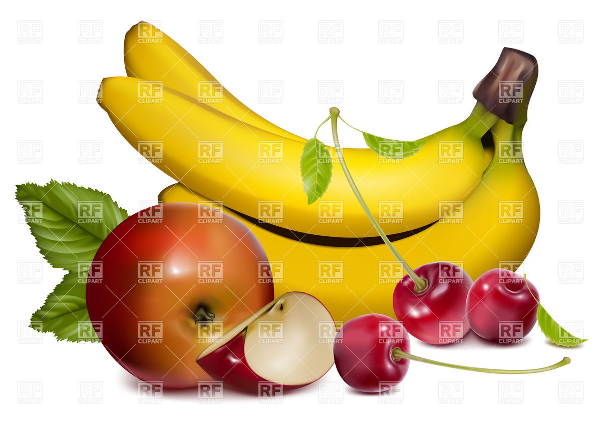 Ripe fruits and berries Vector Image #4950.