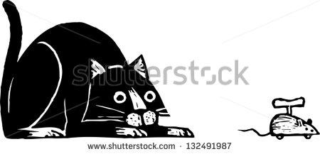Cat Pouncing Stock Photos, Royalty.