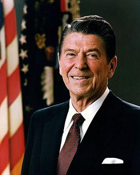 Clipart of President Ronald Reagan.