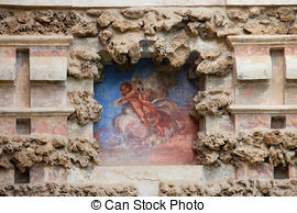 Stock Photos of Grotesque Gallery in Real Alcazar of Seville.