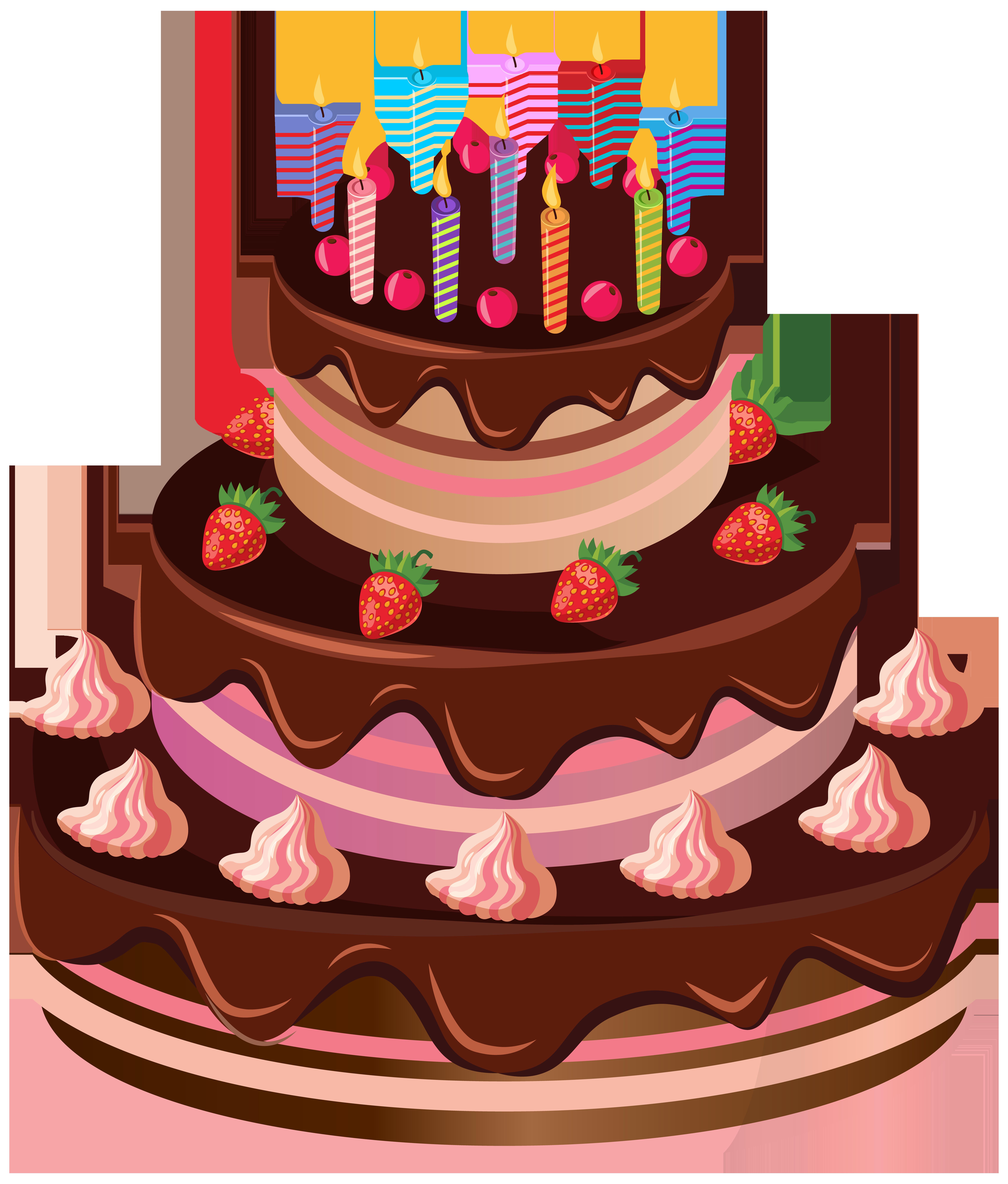 Birthday Cake PNG Clip Art Image.