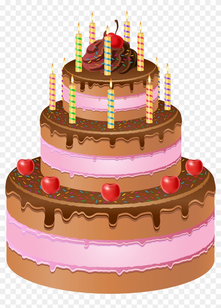 Happy Birthday Cake Png, Transparent Png.