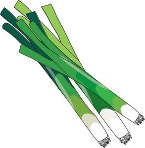 Green Onions Clip Art Images.
