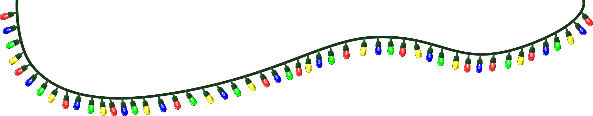 Real Christmas Lights Clipart.