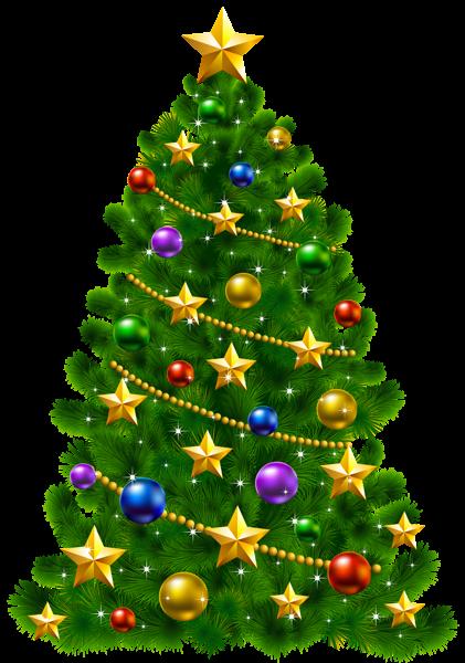 Transparent Christmas Tree Clipart.