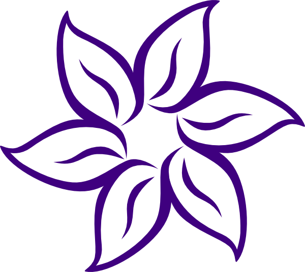 Dark Purple Flower Clip Art at Clker.com.