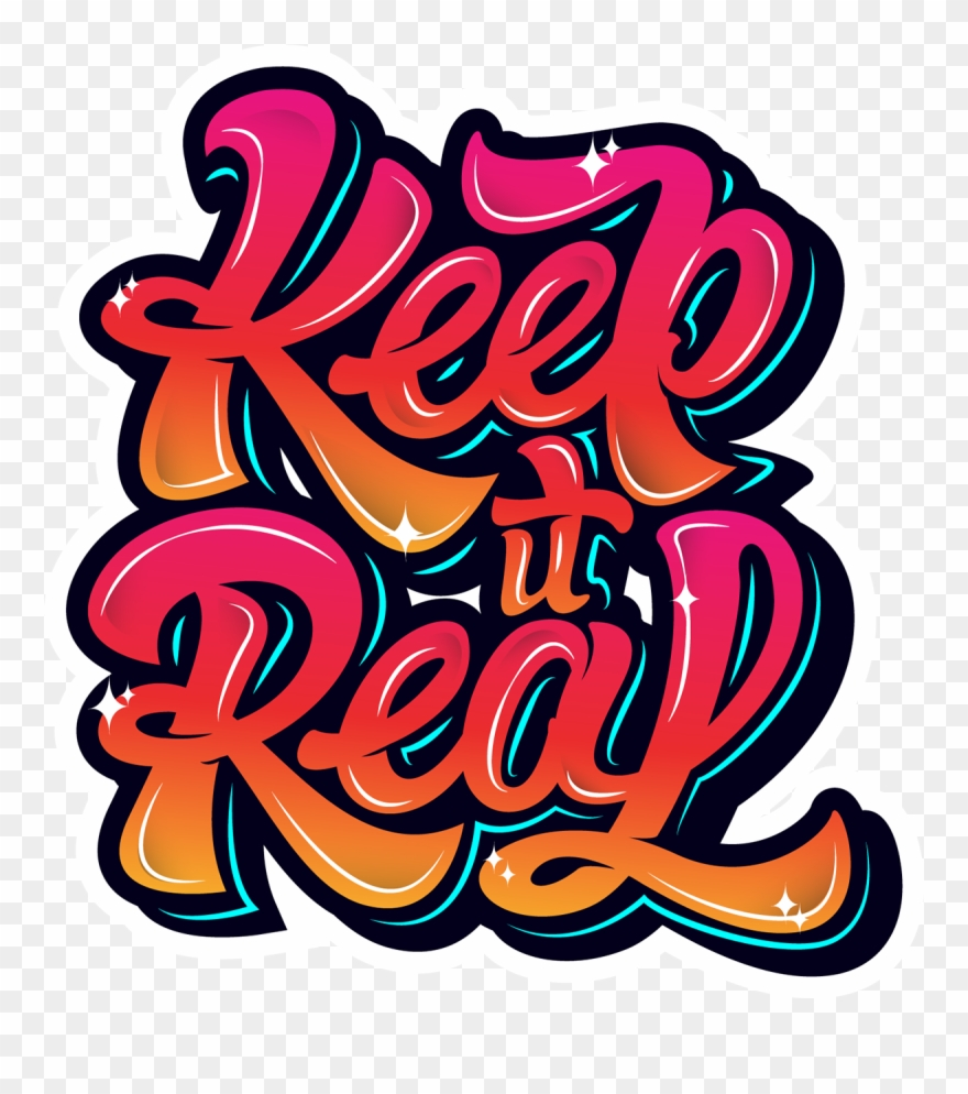 Keep It Real Graffiti Clipart (#1363216).