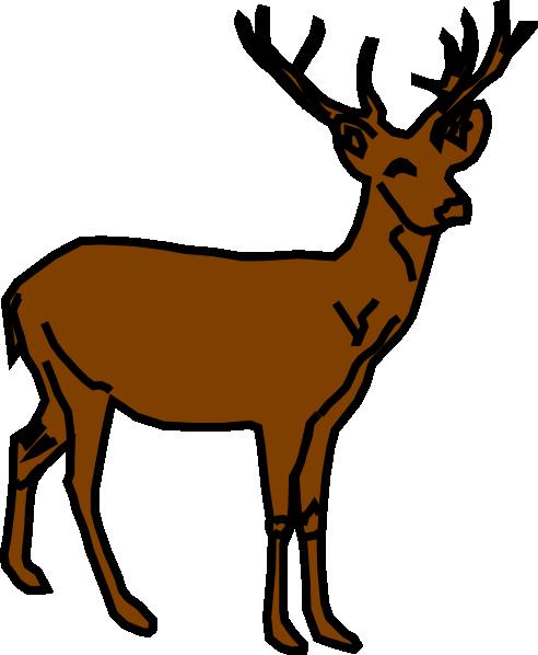 Herd of deer clipart.