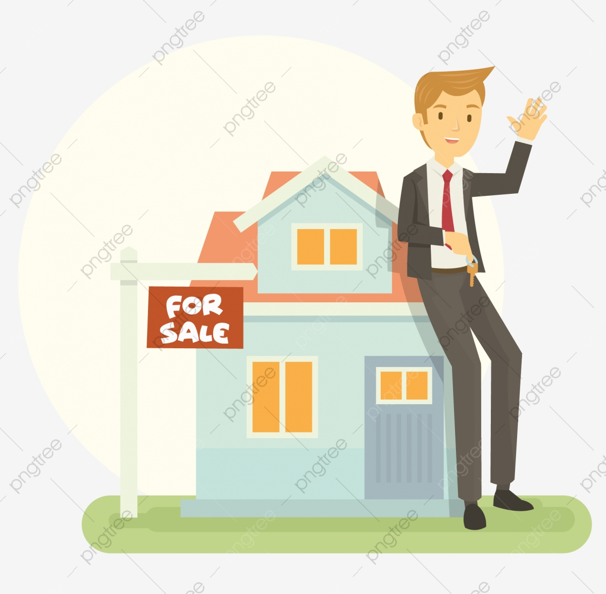 Real Estate Agent, House, Estate, Home PNG and Vector with.