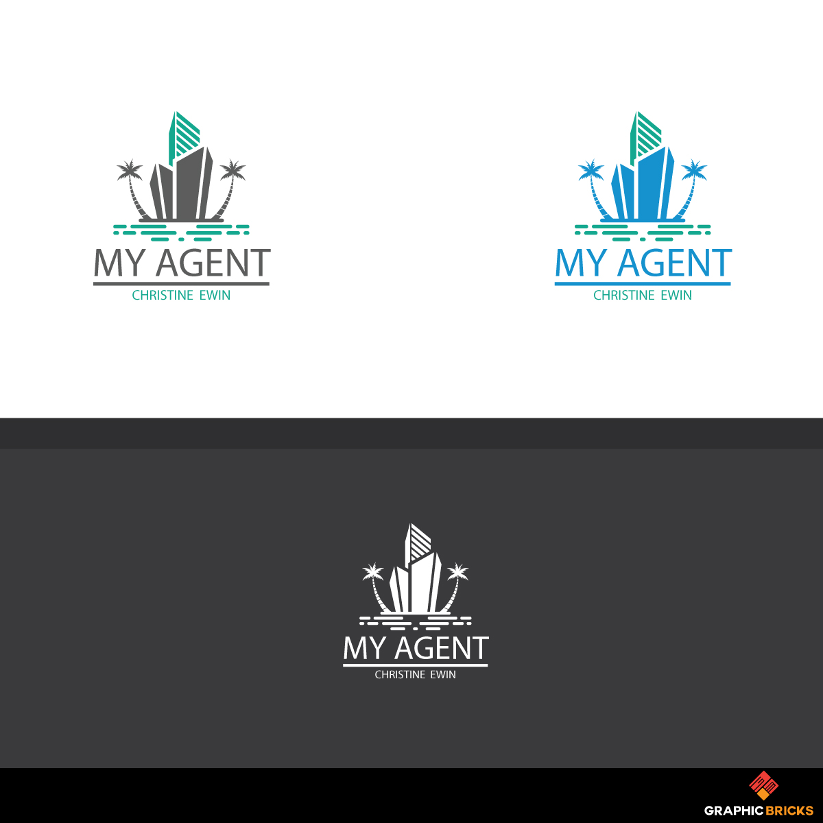 Modern, Serious, Real Estate Agent Logo Design for My Agent.