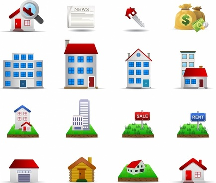 Residential real estate clip art free vector download.