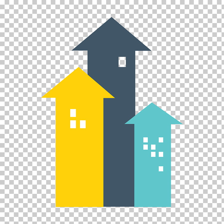 Real Estate Euclidean , color up arrow PNG clipart.