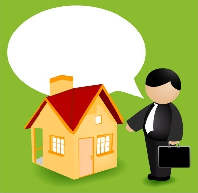 Real Estate Agent Clipart Graphic.