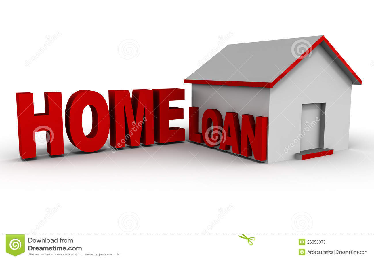 Home Mortgage Loan Royalty Free Stock Image.