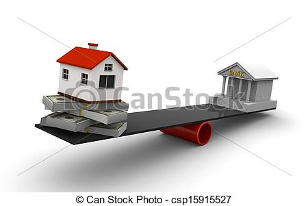 Clip Art of Real estate loan.