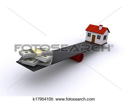 Stock Illustration of real estate financing k17954105.