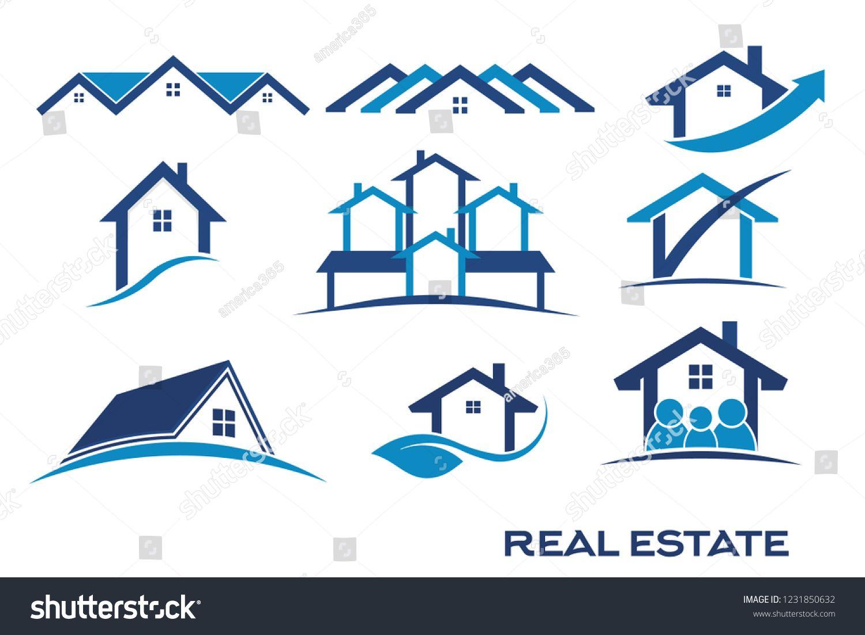 Real Estate Logo Designs #realestate #houses #logo.