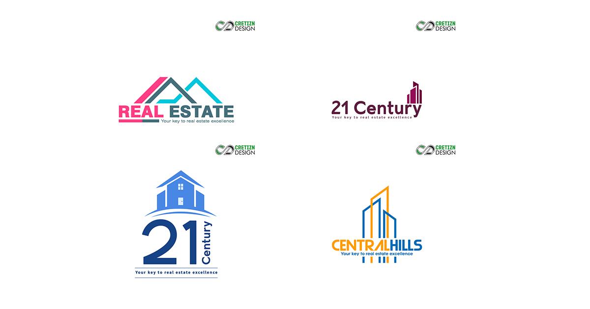 Free Commercial Real Estate Logos Design.
