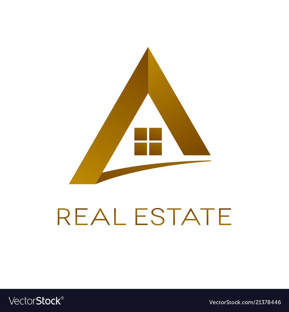 Real estate logo design isolated.