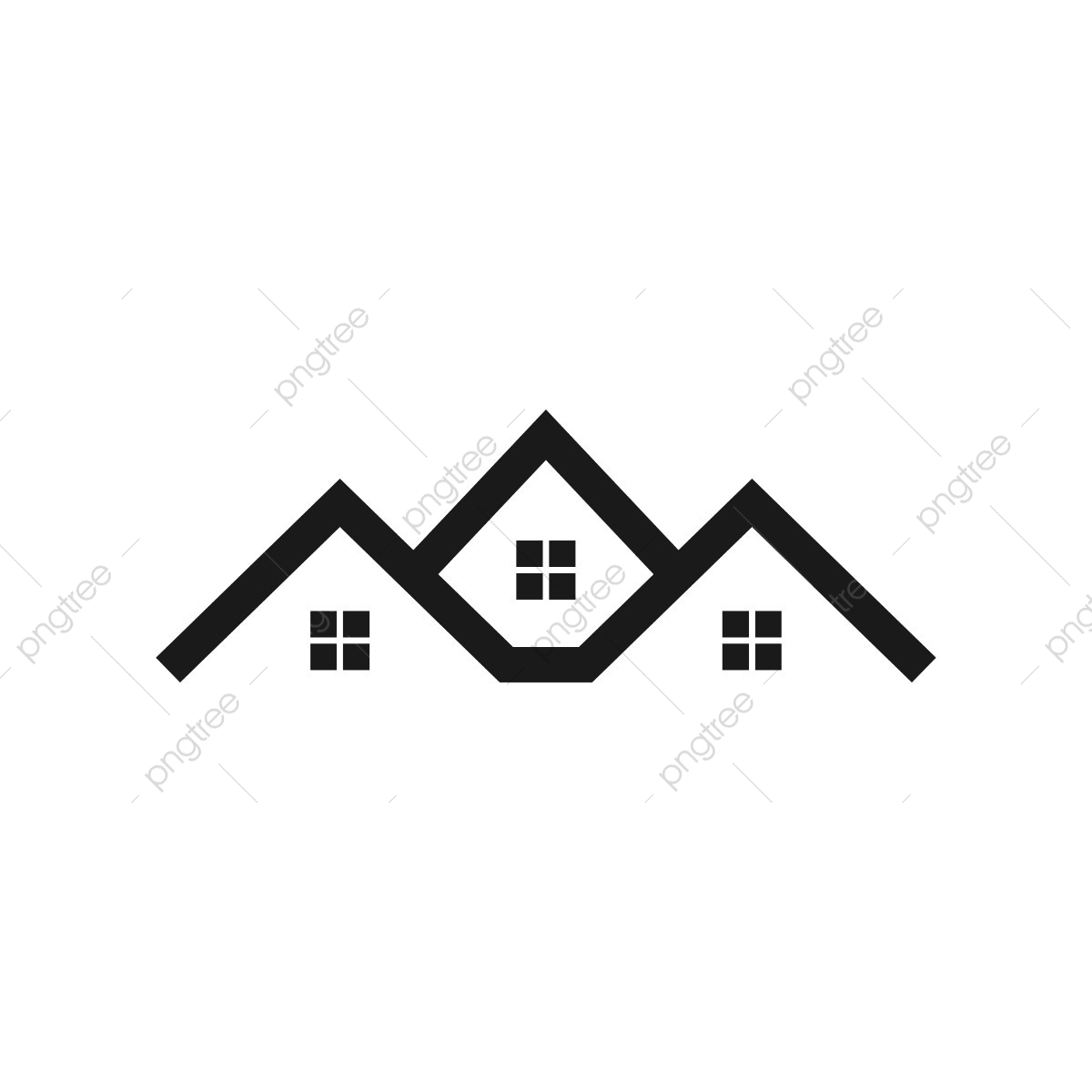 Real Estate House Logo Template, Estate, House, Real PNG and.