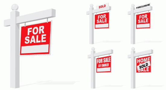 REAL ESTATE SIGNS.