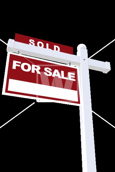 Real Estate Sign Sold.