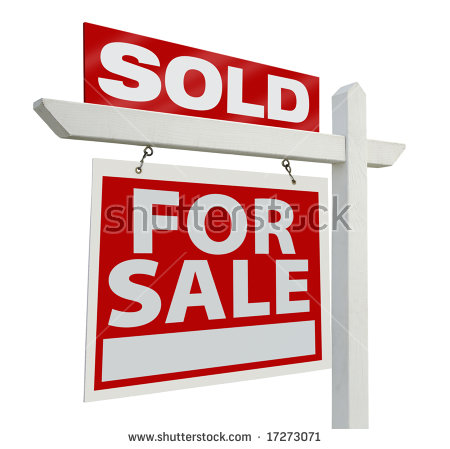 Real Estate Sold Sign Stock Images, Royalty.