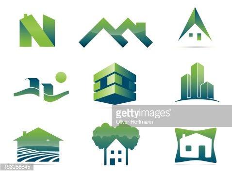 Real Estate Symbols Clipart Image.