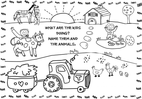 Baby Farm Animal Coloring Pages coloring page, coloring image.